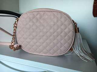 Colette Hayman Pink quilted cross body bag