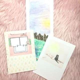 polaroid style painting   bookmark
