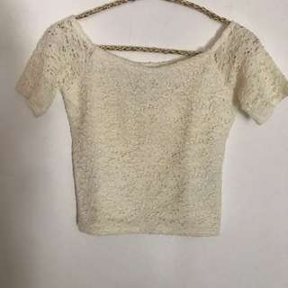 Abercrombie sabrina off shoulder top