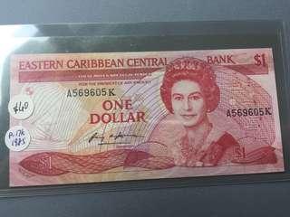 Eastern Caribbean 1985 $1 P.17k UNC