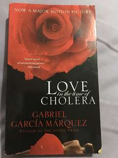 Book : Love in the time of Cholera by Gabriel Garcia Marquez