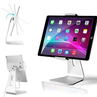 1242. AboveTEK Elegant Tablet Stand, Aluminum iPad Stand Holder, Desktop Kiosk POS Stand for 7-13 inch iPad Pro Air Mini Galaxy Tab Nexus, Tablet Mount for Store Showcase Office Reception Kitchen Countertop