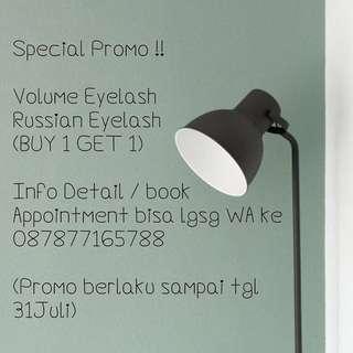 Eyelash extensions promo!!