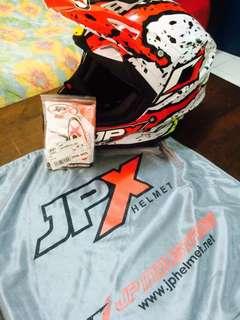 Helmet jpx x2 pearl white L (Fit)