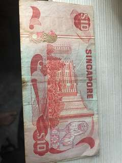 Singapore old $10 note