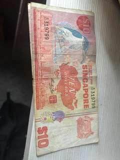 Singapore $10 note