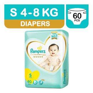 3 PACKS BN SEAL PAMPERS PREMIUM SIZE S