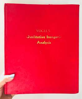 Vogel's Qualitative Inorganic Analysis (7th Ed) by G. Svehla
