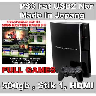 Playstation 3 Fat / PS3 Fat 500Gb USB 2 NOR Full Games