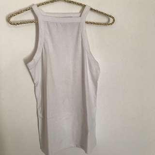 Cotton On white halter tank