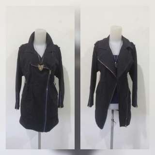 Navy long coat