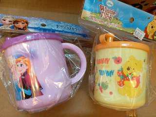 迪士尼250ml幼兒飲水杯連蓋 Frozen / Winnie the Pooh