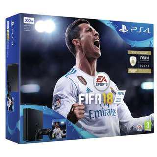 PS4 Slim 500GB Console FIFA 18 Bundle