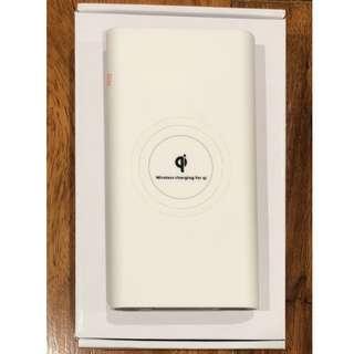White Qi Wireless Charging Powerbank 10,000 mAh
