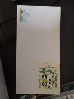 Envelope with stamps prepaid