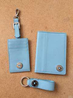 Oroton Luggage tag, keychain passport holder set
