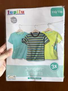 全新 Jungen T-shirts 一套三件