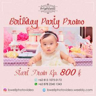 Birthday Party Promo