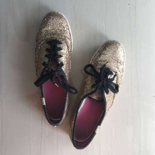 Authentic Keds x Kate Spade Gold