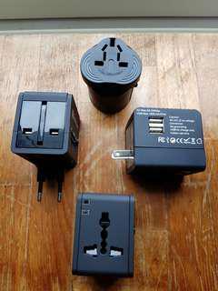 Traveller multi plug usb charger