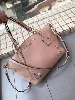 Coach small kelsey with floral tooling f24599