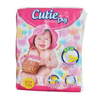 Cutie Dry Tape Diaper S size