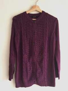 NEW cardigan baju rajut wanita ungu size M