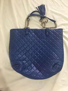 Vera Pelle Tote Bag (Royal Blue)