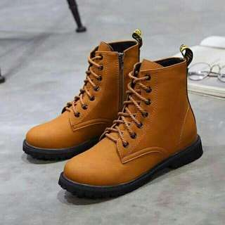 COD Lace up Boots Korean High cut shoes