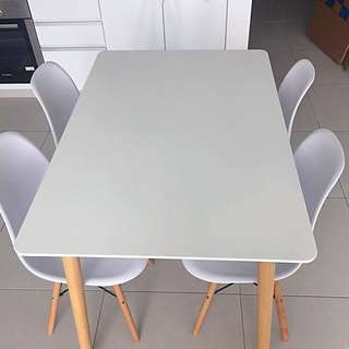 Dining Table white / white dining table with chairs