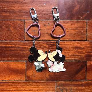 HK Disneyland Couple Keychains