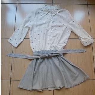 連身短裙洋裝