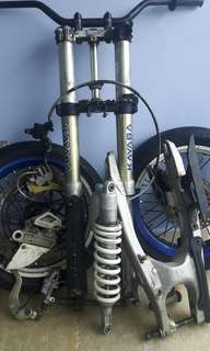 wr400 wheels fork swingarm set