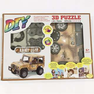 3D Puzzle Army Jeep