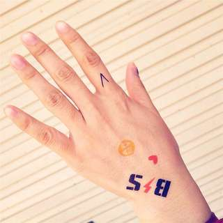 KPOP Temporarily Removable Washable Tattoo