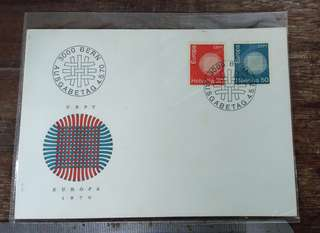 Switzerland  Helvetia First day cover 1970