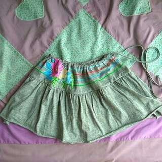 Printed Floral Mini Skirt