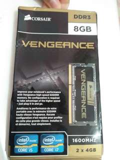 RAM Laptop (Sodimm) Corsair Vengeance 4GB x 2