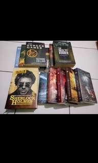 Sherlock Holmes , Hunger Games, The Maze Runner ,Percy Jackson & The Olimpians