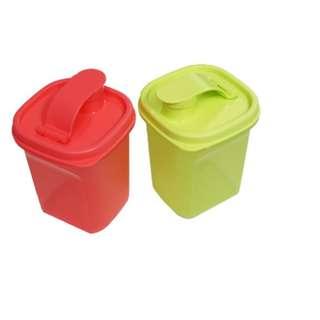 Tupperware Mini Pour (2) 350ml - Green & Red