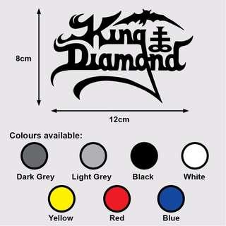 KING DIAMOND Logo Premium Vinyl Sticker (Music Heavy Metal)