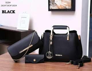 Sembonia 3 in 1 Bag Black Color