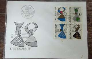 Liechtenstein first day cover 1966