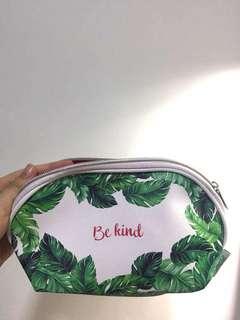Palm print waterproof pouch cosmetics