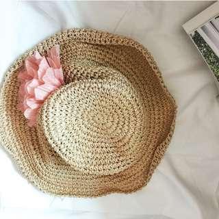 圓頂海邊度假風寬簷造型草帽