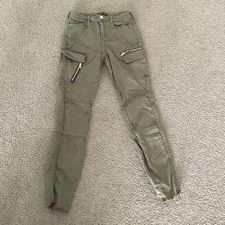 River Island Slim Fit Khaki Pants
