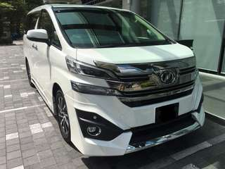 Toyota Vellfire executive lounge for rent