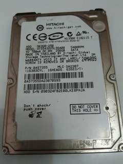 Harddisk Laptop Hitachi HGST 250Gb 5400RPM SATA
