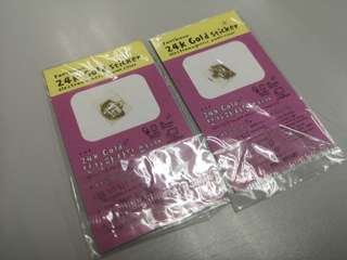24K Gold Sticker Electromagnetic Waves Filter x 2