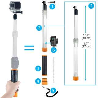 199.Waterproof Telescopic Pole and Floating Hand Grip